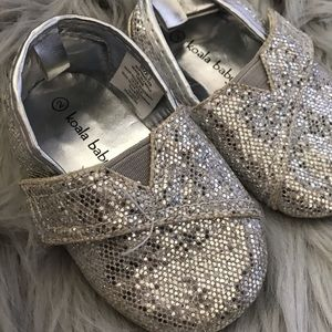 Size 2 toddler silver shoes